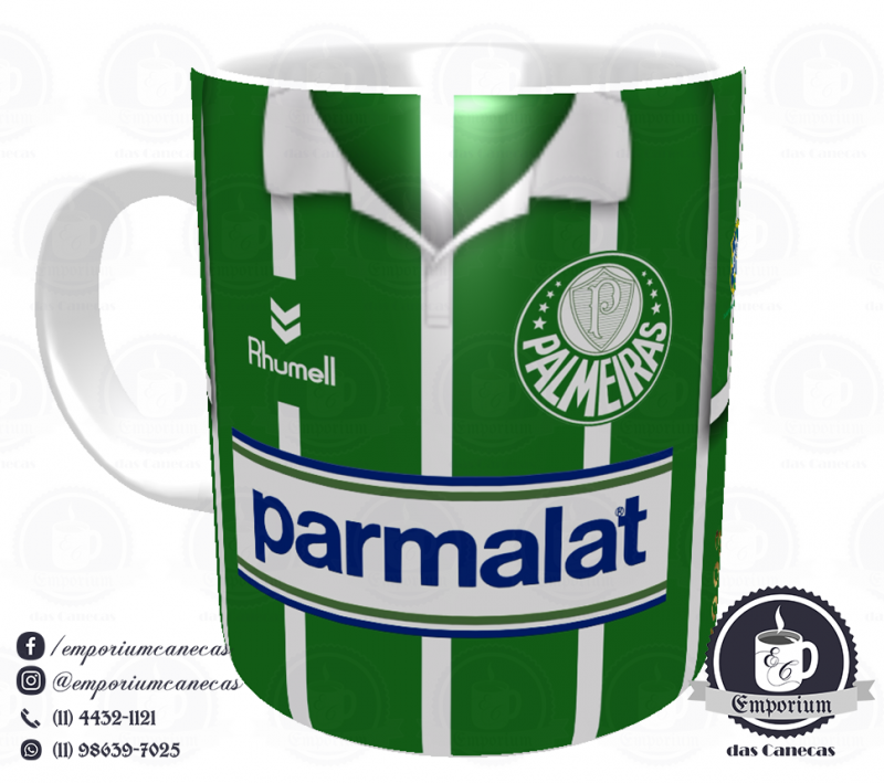 Caneca Palmeiras - Camisa 1993 Evair - Porcelana 325 ml