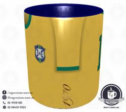 Caneca Seleção Brasileira - Camisa 1970 (Tricampeão Mundial) - Porcelana 325 ml 2