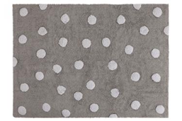Tapete Cinza com bolas brancas, modelo C-00005 1