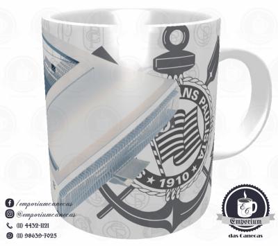 Caneca Arena Corinthians - Branca - Porcelana 325ml