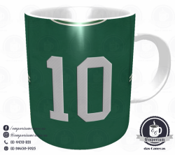 Caneca Palmeiras - Camisa 1972 Ademir da Guia - Porcelana 325 ml 3