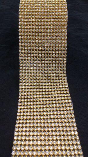 Manta Strass INTEIRA Dourada 1,20 X 0,45