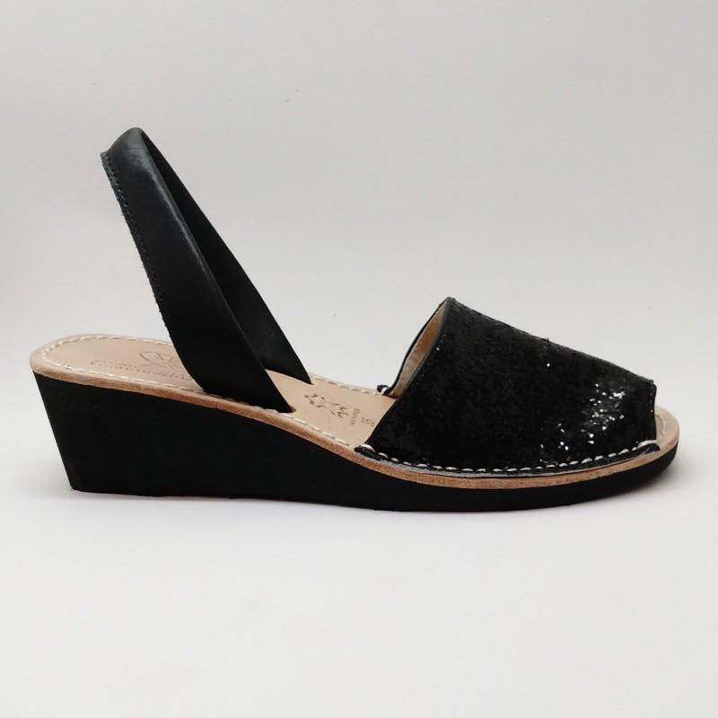 Anabela Glitter Negra