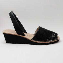 Anabela Glitter Negra 1