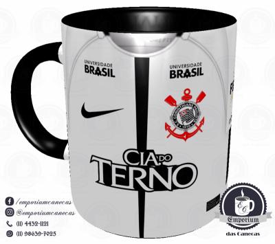 Caneca Corinthians - Camisa 2017 Home - Porcelana 325ml