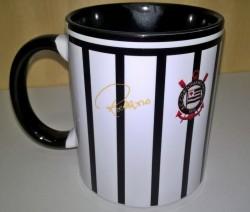 Caneca Corinthians - Camisa 1971 Rivellino - Porcelana 325 ml 4
