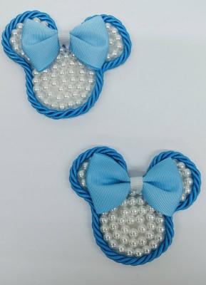 Carinha Minnie Strass Laço Azul