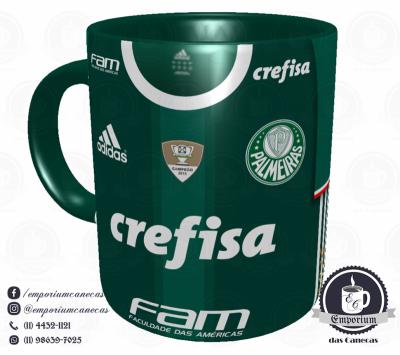 Caneca Palmeiras - Camisa 2016 Brasileirão - Porcelana 325 ml