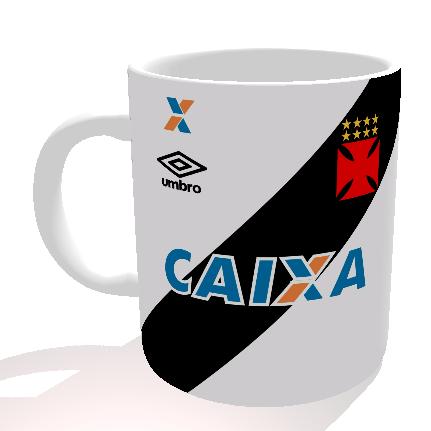 Caneca Vasco - Camisa 2016 Branca - Porcelana 325 ml