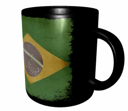 Caneca Brasil - Grunge 3