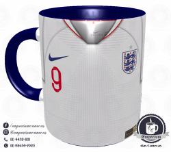 Caneca Inglaterra - Camisa Copa do Mundo 2018 - Porcelana 325 ml 1