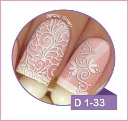 Cartela com 2 Pares - D 1-33