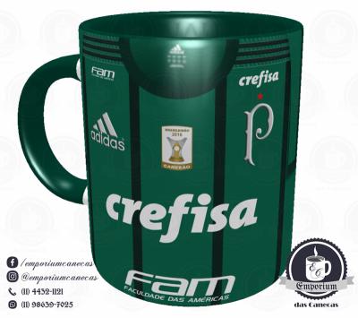 Caneca Palmeiras - Camisa 2017 Home - Porcelana 325 ml