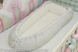 Ninho para Bebê Cinza com Estrelas Brancas 1