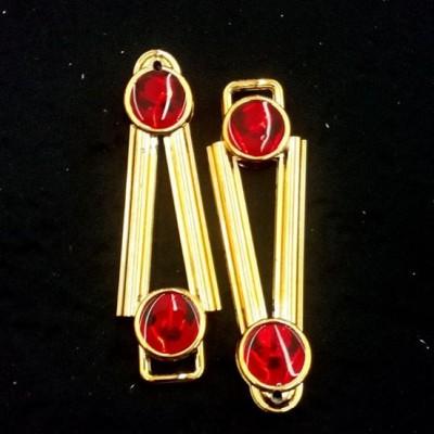 Ponto Exclamacao Dourado/Vermelho ABS 030
