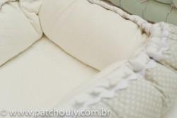 Ninho para Bebê Cinza com Estrelas Brancas 3