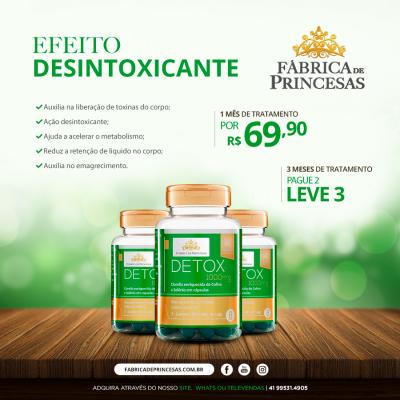 Detox 1000mg - 3 meses de tratamento