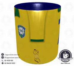 Caneca Seleção Brasileira - Camisa 1962 (Bicampeão Mundial) - Porcelana 325 ml 2