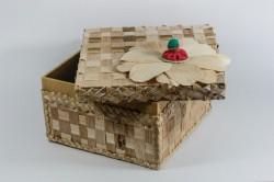 Artesanato caixa mdf forrada com palha de bananeira 2
