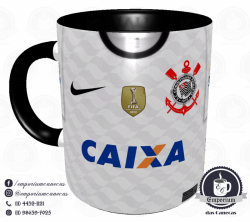 Caneca Corinthians - Camisa 2012 Mundial - Porcelana 325 ml 1
