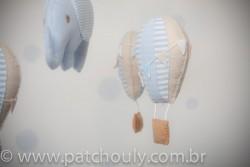 Móbile de Elefante e Balões Azul 2