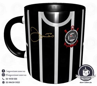 Caneca Corinthians - Camisa 1977 Basílio - Porcelana 325 ml