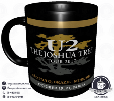 Caneca U2 - The Joshua Tree Tour 2017 - Porcelana 325ml