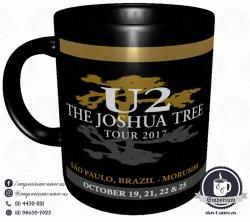 Caneca U2 - The Joshua Tree Tour 2017 - Porcelana 325ml 2