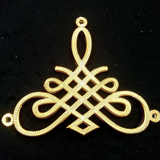 Triangulo Infinito ABS Dourado 014