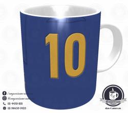 Caneca Seleção Brasileira - Camisa 1958 (Campeão Mundial) - Porcelana 325 ml 3
