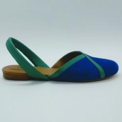 Diagonal Nobuck Azul 2