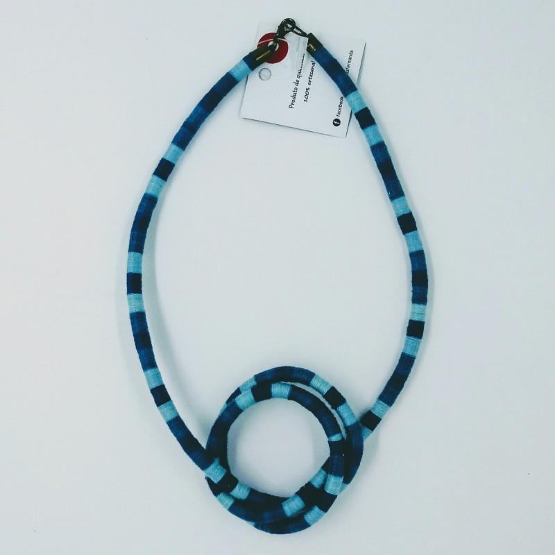 Colar Serpente Azul