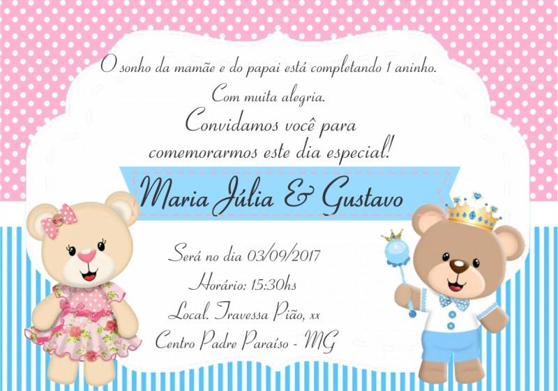 Convite Gemeos