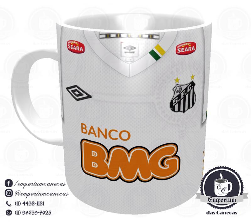 Caneca Santos - Camisa Libertadores 2011 - Porcelana 325ml