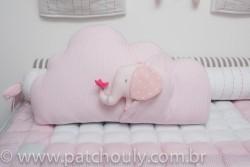 Almofada Nuvem com Elefante Rosa 4