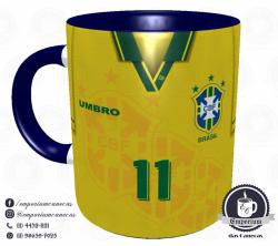 Caneca Seleção Brasileira - Camisa 1994 (Tetracampeão Mundial) - Porcelana 325 ml 1