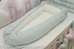 Ninho para Bebê Quadriculado Malva 1