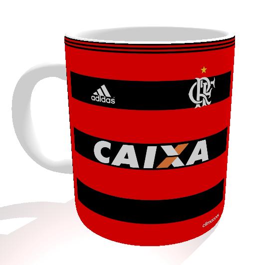 Caneca Flamengo - Camisa 2013 Copa do Brasil - Porcelana 325 ml