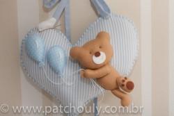 Enfeite de porta Urso Azul com Balão 1