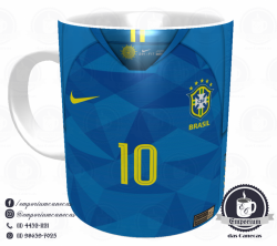 Caneca Selecao Brasileira - Camisa 2018 Away - Porcelana 325 ml 1