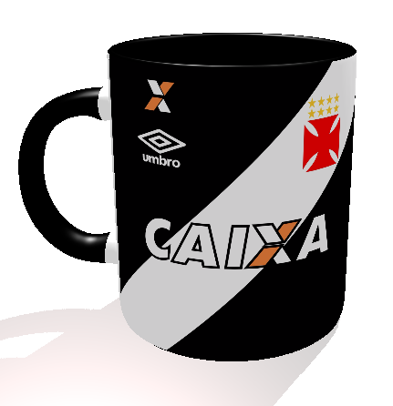 Caneca Vasco - Camisa 2016 Preta - Porcelana 325 ml