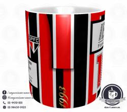 Caneca São Paulo FC - Camisa 1992/93 Bi-Libertadores Listrada - Porcelana 325 ml 2