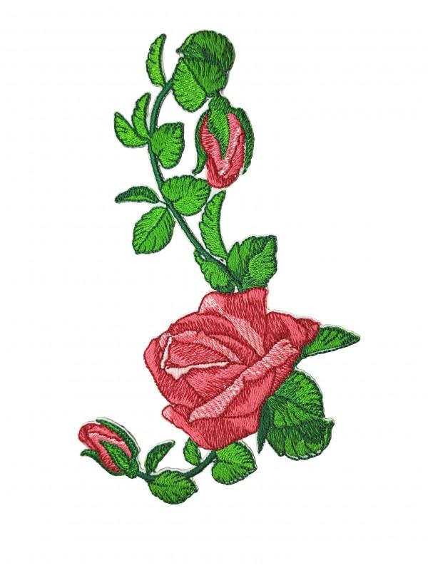Patch Rosa Com Botões