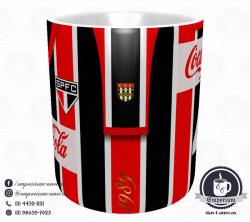 Caneca São Paulo FC - Camisa 1989 Listrada - Porcelana 325 ml 2