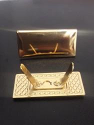 Plaquinha de Metal Dourada  Modelo 5 2