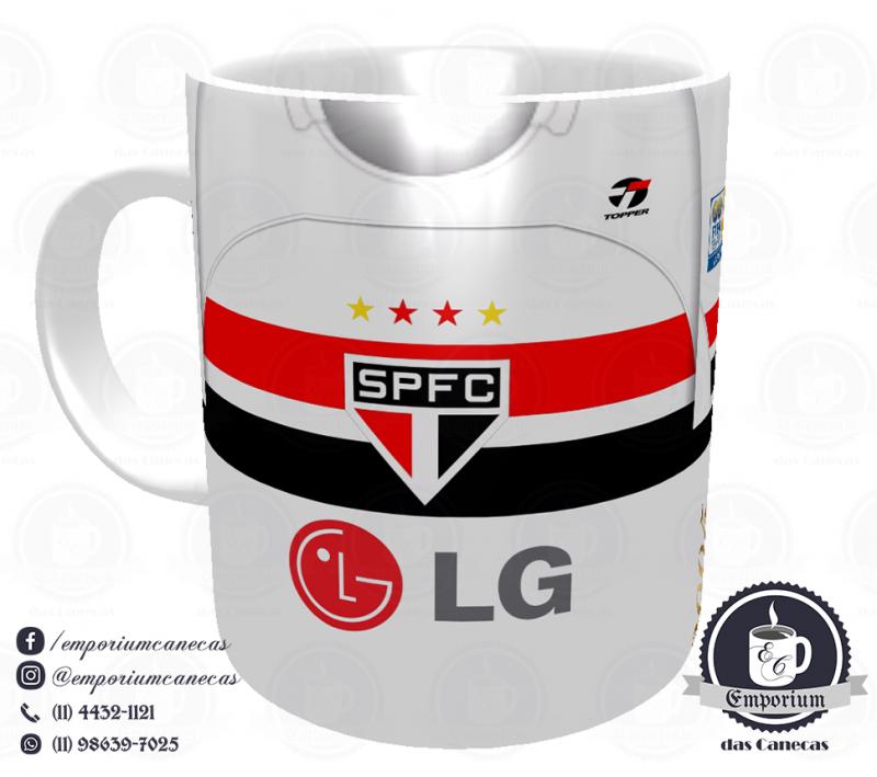 Caneca São Paulo FC - Camisa 2005 Tri-Mundial - Porcelana 325 ml