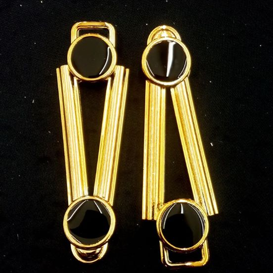 Ponto Exclamacao Dourado/Preto ABS 031