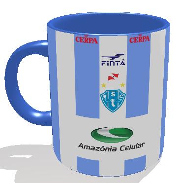 Caneca Paysandu - Camisa 2002 Copa dos Campeões - Porcelana 325 ml