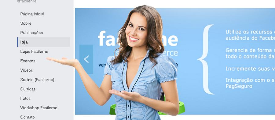 loja virtual facileme facebook